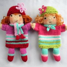 KNITTING PATTERN - RUBY and ROSE are two little hand puppet friends made from the same basic knitting pattern. Designed to be used by children but will fit adults also.SIZE: Each hand puppet doll measures 28 cm (11 in)NEEDLES: knitted on two straight 3.25 mm needles (US 3)YARN: DK (double knitting) yarn (USA - light-worsted/Australia - 8 ply).Hayfield Bonus DK - Flesh Tone (963)Plus small quantities of yarn in your stash!SKILLS REQUIRED: cast on, cast off, knit, purl, increase, decrease...