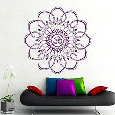 """Gross Wandtattoo Ornament Indischer Mandala, Marokkanisches Muster, Geometrische Yoga """"Namaste"""" Blume, Vinyl, Schlafzimmer Wandtattoo, Wandsticker Wandbilder DecorimDecorWallDecal http://www.amazon.de/dp/B012ZOMDAS/ref=cm_sw_r_pi_dp_x171vb1SEK6SP"""