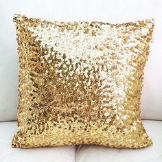 New Sequin Metallic Throw Pillow / Cushion by SparklePonyShop