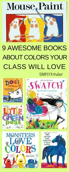 These fun booksabout colorare PERFECT forpreschool and Kindergarten Students learning color words. Continue the fun with ideas for color activities, games and lively songs (includes free printables). #freeprintables #preschool #kindergarten #colors