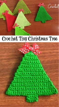 Tiny crocheted Christmas tree -- adorable and looks fairly simple, too!