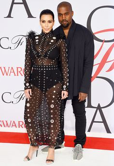 Kim Kardashian and Kanye West at the 2015 CFDA Awards in New York City on June 1.