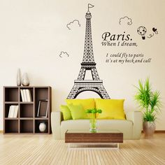 Paris Eiffel Tower Wall Stickers #stylish_things #wall_stickers #decoration #home_decor_ideas #decorating_ideas #interior_decoration