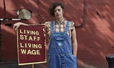 Nia Hughes, who is fighting for a living wage at the Brixton Ritzy cinema in London.  Low paid britain