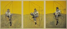 Most Expensive Paintings in the World: Three Studies of Lucian Freud by Francis Bacon - Rich and Loaded Lucian Freud, Francis Bacon Triptych, Most Expensive Painting, Modern Art, Contemporary Art, Jasper Johns, Chef D Oeuvre, Art Nouveau, Art Institute Of Chicago