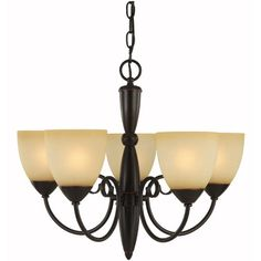 Hardware House Berkshire Series 5 Light Oil Rubbed Bronze 21 Inch by 18 Inch Chandelier Ceiling Lighting Fixture : 16-7895