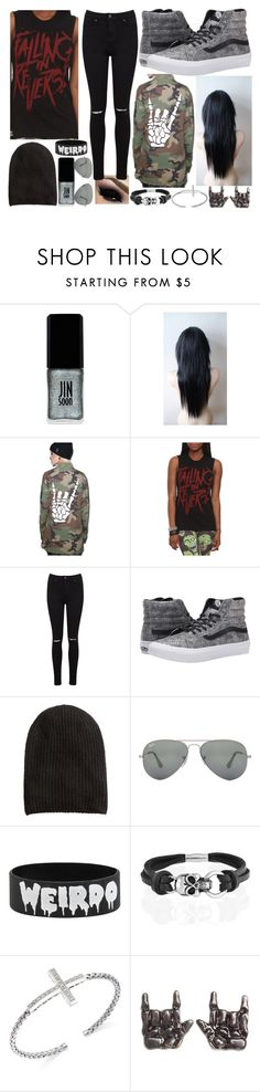 """""""Falling in Reverse"""" by mayday100parade ❤ liked on Polyvore featuring JINsoon, Miss Selfridge, Vans, H&M, Ray-Ban and Bling Jewelry"""