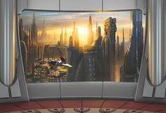 Luxuriöser Ausblick auf beeindruckende Wolkenkratzer und den malerischen Sonnenuntergang des Planeten Coruscant.  Artikeldetails:  Anzahl Teile: 8, Mit Kleister, Der Untergrund muss sauber, glatt und fettfrei sein.,  Material/Qualität:  Papier,  Wissenswertes:  Achtung: Rückgabe nur aus Qualitätsmängeln möglich,  ...