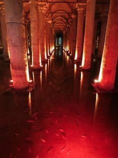 Basilica Cistern, Istanbul, Turkey — by Georgia Pictures. View from this place in Istanbul called the Basilica Cistern. It is an old under ground, water chamber that was built. Avatar Zuko, Neon Aesthetic, Character Aesthetic, Istanbul Turkey, Avatar The Last Airbender, Abandoned Places, Art And Architecture, Aesthetic Pictures, Beautiful Places