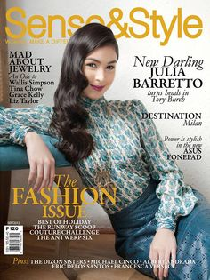 Magazines - The Charmer Pages : Julia Barretto by Shaira Luna graces of Sense & Style Magazine September 2013 V Magazine, Magazine Covers, Marie Claire, Cosmopolitan, Vanity Fair, Nylons, New Darlings, Interview, Filipina Actress