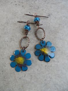 Darlin' Daisies ... Artisan-Made Enameled Copper by juliethelen