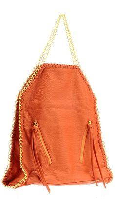 Orange Handbag....love the shape and details. Really want an orange hand bag !
