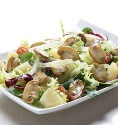 Ensalada de verduras y setas - Recetas Vegetarianas de Corea