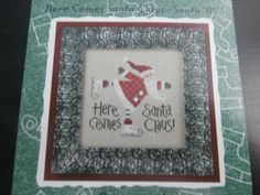 Handmade Unframed Here Comes Santa Clause by CustomCraftJewelry