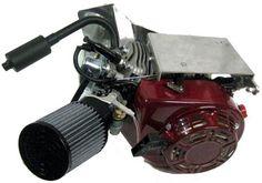 Blue 6.5 HP CHEATER CLONE RACING ENGINE MOTOR GO KART