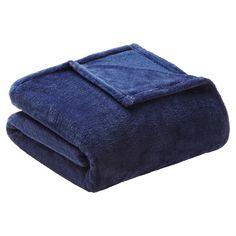 Microlight Plush Blanket (Twin/Twin XL) Navy (Blue)