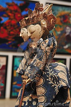 Wayang Golek puppet with batik costume #Indonesia #puppets