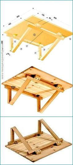 Wooden Pallet Recycling Ideas For Outstanding Home – DIY Motivations Folding Furniture, Diy Furniture Projects, Diy Pallet Projects, Recycled Furniture, Pallet Furniture, Wood Projects, Octagon Picnic Table, Picnic Table Plans, Wooden Pallets