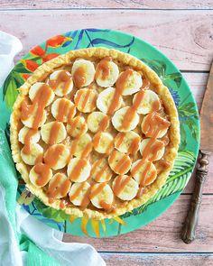 Tarta de dulce de leche y banana Apple Pie, Cantaloupe, Watermelon, Fruit, Desserts, Food, Easy Recipes, Pastries, Dinner Rolls