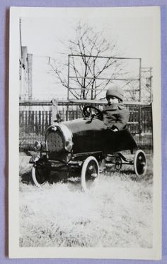 Vintage Little Boy In His New Pedal Car by InteriorVintage Pedal Cars, Young Boys, Vintage Toys, Little Boys, 1920s, Antique Cars, Jewelry Art, Photograph, Friends
