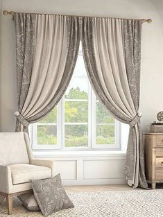 [New] The 10 Best Home Decor Ideas Today (with Pictures) - curtains and see the world or keep the curtains closed and see only the curtains! Elegant Curtains By Johanna . Living Room Decor Curtains, Home Curtains, Curtains With Blinds, Bedroom Window Curtains, Kitchen Curtains, Bedroom Decor, Curtain Styles, Curtain Designs, Curtain Ideas