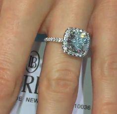 Cushion Cut Lauren B Engagement Ring