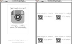 DIY | If you Instagram wedding templates and places to print Instagram photos! Perfect!