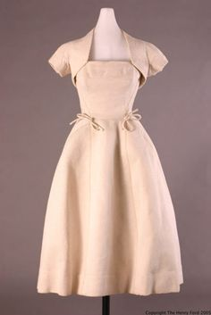 Christian Dior dress ca. 1952 via The Henry Ford Costume Collection