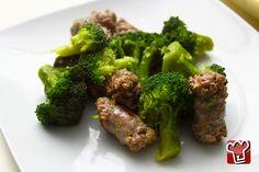 salsicce in padella con broccoli