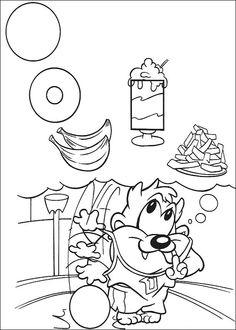 Baby Looney Tunes Målarbilder för barn. Teckningar online till skriv ut. Nº 74