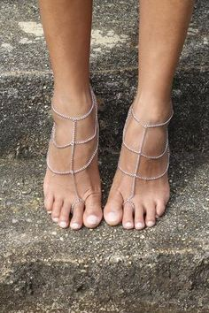 Lover Barefoot Sandals - Silver - http://www.foreversoles.com/collections/barefoot-sandals