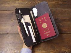 本革パスポートホルダー(ブラック)の画像1枚目
