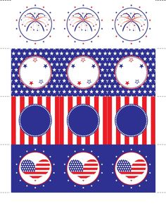 Free patriotic printables. #July_4 #Memorial_Day #Patriotic #Printables #Circles