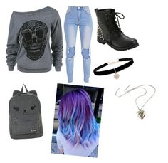 """""""School: Monday"""" by starlight-fairy ❤ liked on Polyvore featuring Betsey Johnson"""