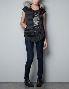 Zara Combined Knit Jacket