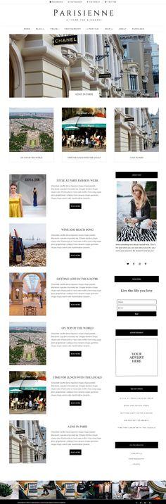 Parisienne - WordPress Theme Blog   @creativework247