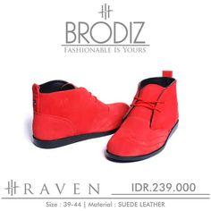 Brodiz Raven, Warna: Red, Size : 39-44. Untuk Pemesanan Online Kunjungi : www.rockford-footwear.com *Gratis pengiriman ke seluruh Indonesia Email: contact@rockford-footwear.com Pin : 525B26DF Atau...