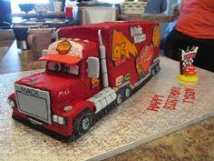 Disney Cars Mack Truck Cake