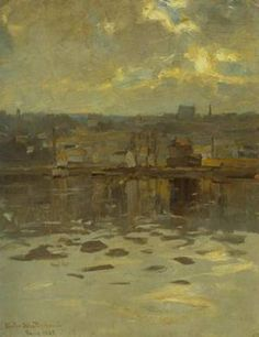 From Paris 1889   Victor Westerholm   Oil Painting  #landscapes