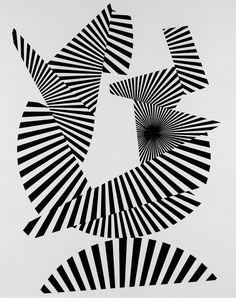 Franco Grignani, Radial fragmentation, 1964 [from GARADINERVI] E Design, Graphic Design, Design Ideas, Victor Vasarely, Collage Techniques, Mirror Image, Op Art, Color Theory, Textures Patterns