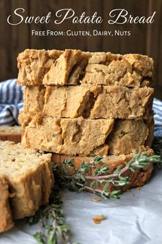 This Sweet Potato Bread is a moist, healthy alternative to store bought bread. This recipe is Paleo, nut free, dairy free, and gluten free. It is also super easy to make! #paleo #nutfree #glutenfree #sweetpotatoes Steamed Sweet Potato, Sweet Potato Bread, Paleo Sweet Potato, Paleo Sandwich Bread, Gluten Free Sandwiches, Easy Bread Recipes, Paleo Recipes, Healthy Gluten Free Bread, Cassava Flour Recipes