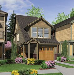 Perfect Home Plan for a Narrow Lot - 6989AM | Architectural Designs - House Plans