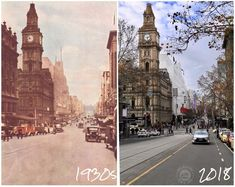 Then And Now Photos, Melbourne Victoria, Strand, Geography, Old Photos, Big Ben, Homes, Change, City