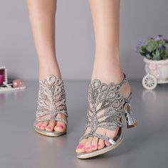 b71495f39e9c G SPARROW 2017 Summer Sexy Women s Luxury Shoes Stiletto Thin Thick Heels  Sandals Black Blue Red Silver Gold High heeled 8cm-in Women s Sandals from  Shoes ...