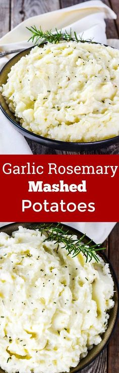 Garlic Rosemary Mashed Potatoes