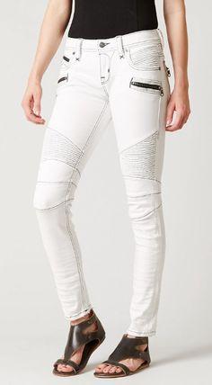 Rock Revival Gaby Moto Skinny Stretch Jean - Women's Jeans | Buckle