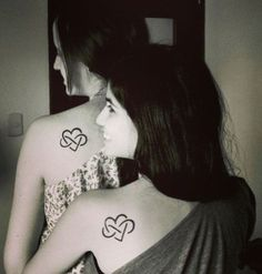 Infinity Hearts Mother Daughter Tattoos by lindsey