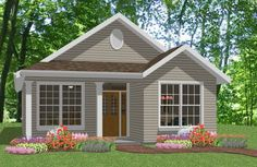 front porch roof ideas | Narrow Lot Plan packs alot of living into a small floor plan!