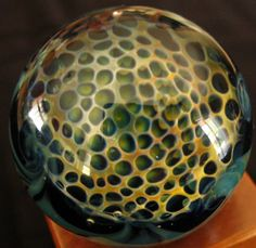 Blown Glass Honeycomb Marble by BlowfishGlassworks