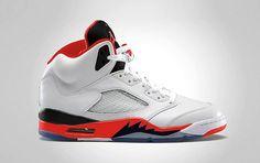 "Air Jordan 5 ""Fire Red/Black""  Release date: August 31, 2013    Source: Sneakers Addict"